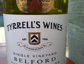 Two heavenly Hunter Semillons from Tyrrell's: VAT 1 2007 & Single Vineyard Belford 2009