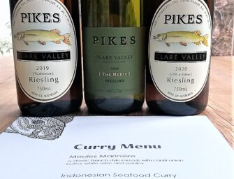 Pikes Clare Valley Riesling – with fish of course