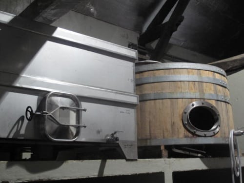 New/old open fermenters at Filipa Pato for a touch of whole bunch ferment