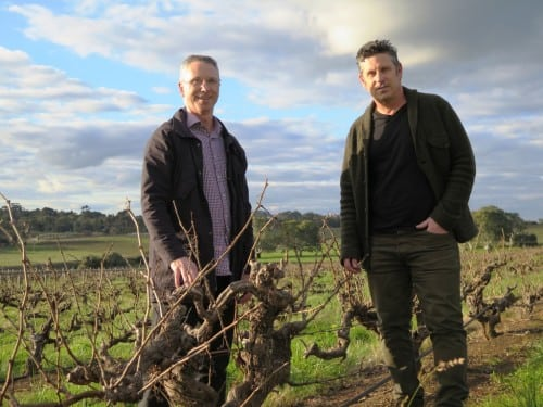 """Trying to get a lightness in the wine,"" whole bunch lovers Purple Hand's Craig Stansborough & Mark Slade"