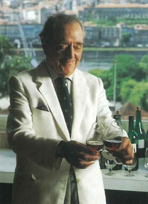 Fearless even in his (tasting room) choice of white suit, Douro table wine pioneer Fernando Nicolau d'Almeida