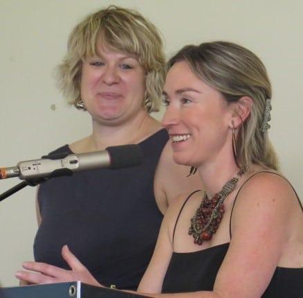 Kim Chalmers with Anna Hooper, Cape Jaffa - Sponsor a Variety winner