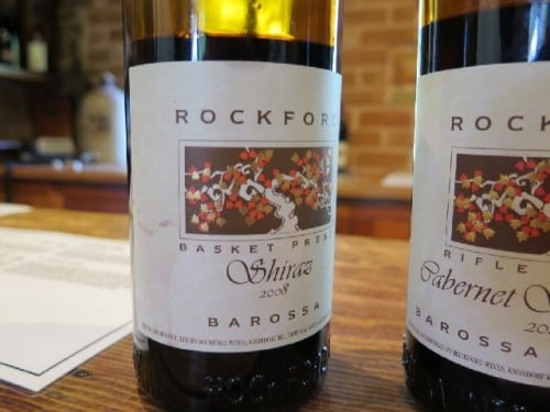 Rockford's top red - Basket Press Shiraz impresses, soft, earthy, spicy, fleshy - builds, builds, builds in the mouth.