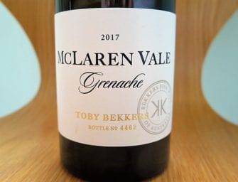 First taste: Bekkers McLaren Vale Grenache & Syrah Grenache 2017