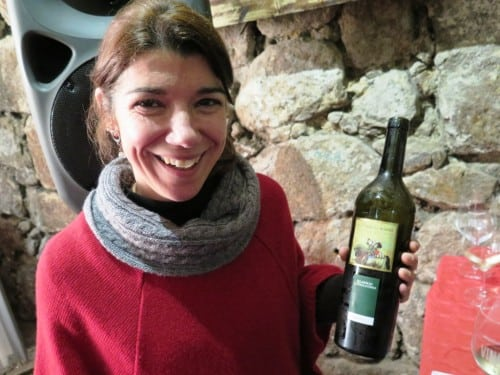 Showing her first wine - a promising new find from Tras os Montes, Luisa Sarmento of Palmeirim d'Inglaterra, winemaking by Rui Cunha