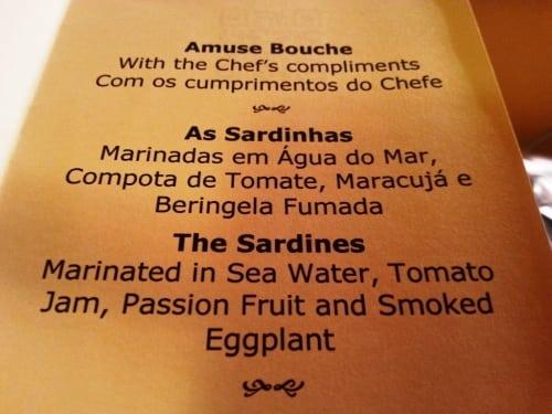 madeira sardines dish