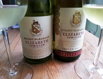All Bar Two? Mount Pleasant Elizabeth Semillon 2013 v 2007