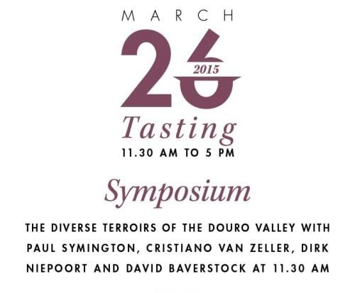 NEW DOURO TASTING 2015 symposium