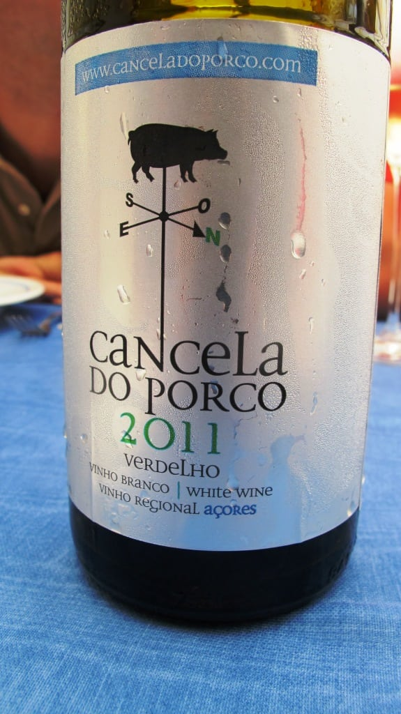 Said fish brilliantly matched with Acordouro's owner's Verdelho (2013 vintage): Cancela do Porco