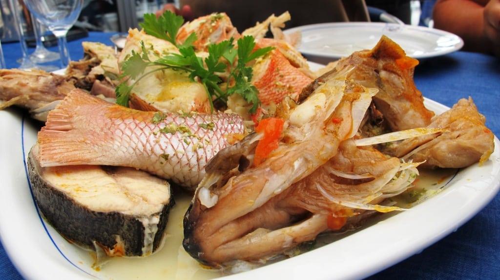 Fabulous fresh fish at restaurant Ancoradouro