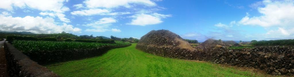 Surplus stones are piled high