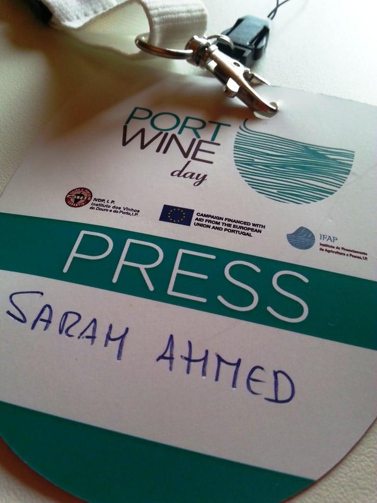 port wine day press badge