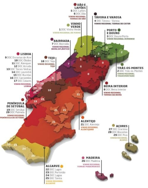 Map reproduced with the kind permission of Wines of Portugal