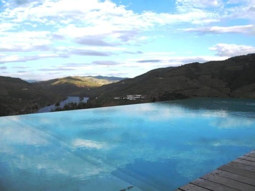 Quinta do Crasto's famous infinity pool; we'll be submersing ourselves in the wines!