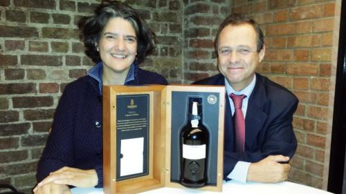 Sandeman Picture 1 - Head Winemaker Luis Sottomayor with wine writer Sarah Ahmed 15th Oct 2014