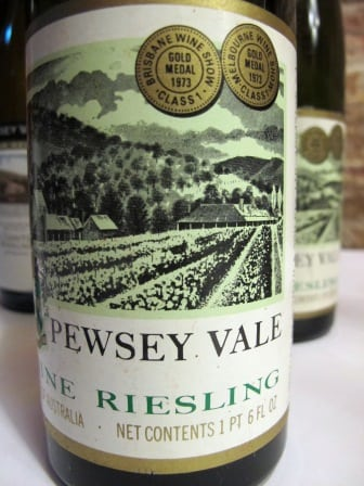 Pewsey Vale Riesling 1973