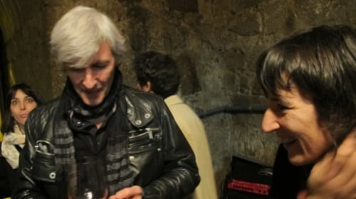 Vasco Croft of Aphros (l) with Marta Soares of Casal Figueira at Simplesmente Vinho wine fair