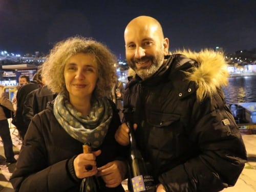 I've tasted wines labelled Alr but the man behind the initials (and Casa de Mouraz) - Antonio Lopes Ribeiro - had eluded me.   Pictured here with his partner in crime, Sara Dionísio.  Alr 2013 Vinho Verde looking very good.