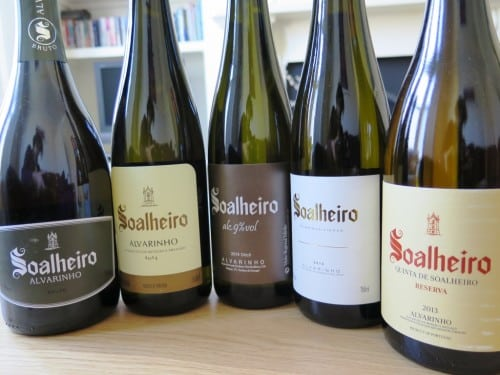 Alvarinho specialist Quinta de Soalheiro's range includes sparkling, un-oaked. off dry, old vine and oaked options!