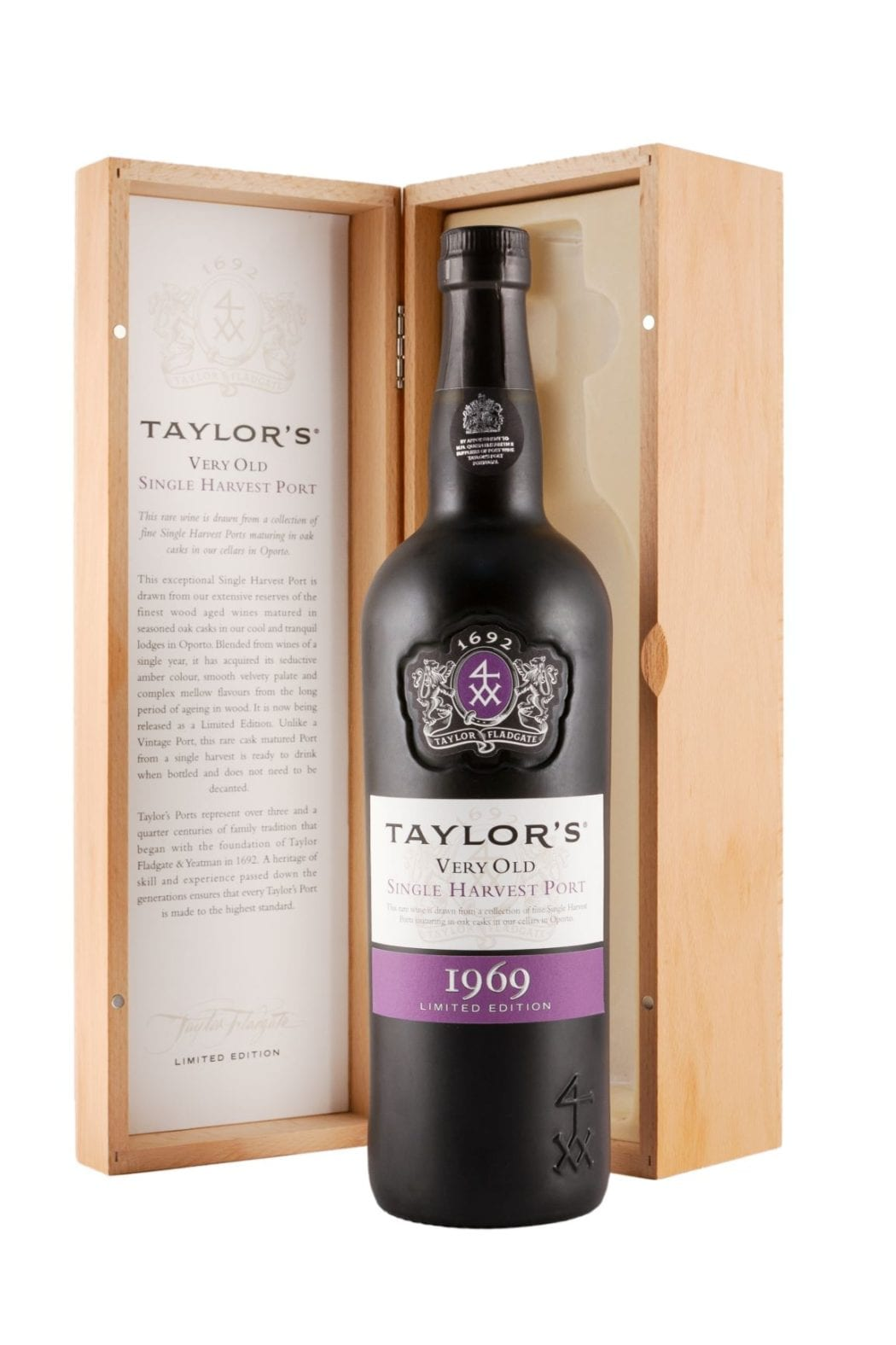 Taylors Single Harvest 1969 bottle and box