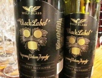 Wolf Blass Black Label vertical (1979-2010)