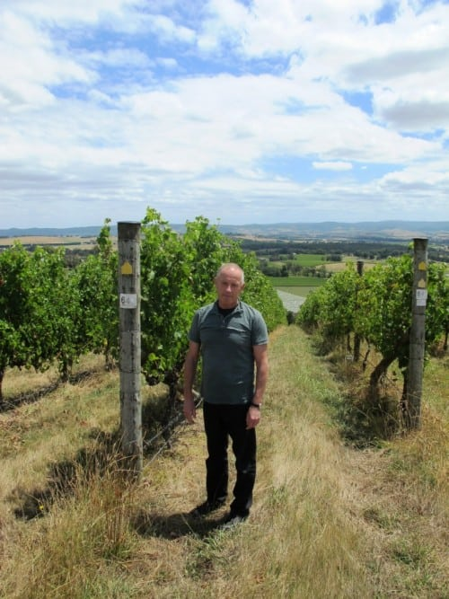 Giant Steps' Phil Sexton at the Sexton Vineyard, Yarra Valley