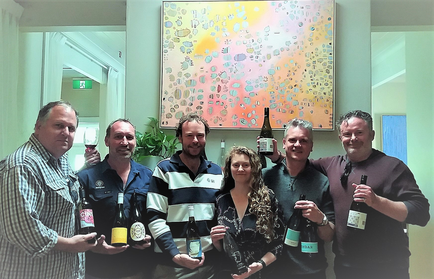 Widening the McLaren Vale gene pool, artisans Bard Hickey (Brash Higgins), Alex Sherrah (Sherrah Wines), Rob & Louise Mack (Aphelion Wines), Andre Bondar (Bondar Wines) & Andy Coppard (Lino Ramble)